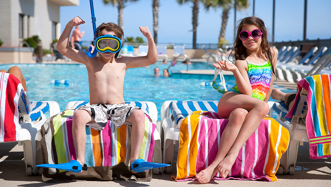 Kids at Oceanfront Pool
