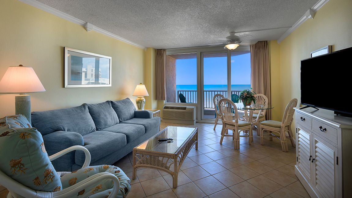 Angle Suite Living Room Myrtle Beach Resort