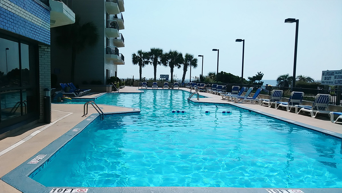 Relaxing Outdoor Pool Myrtle Beach
